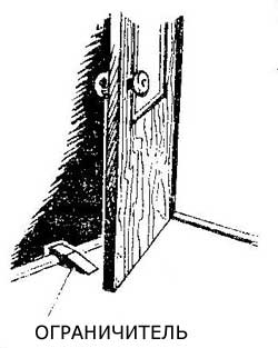 Как сделать упор для двери