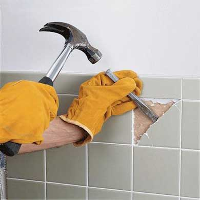 Как убрать треснувшую плитку