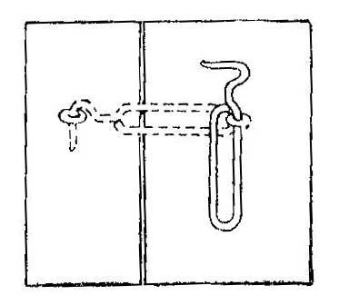 Как сделать крюк для широких дверей сарая