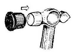 Как сделать обрезинить молоток для жестяных работ