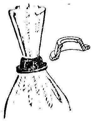 Как сделать зажимное кольцо полиэтиленового мешка