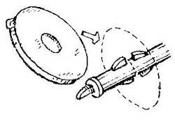 Как заменить пластмассовое кольцо на лыжной палке