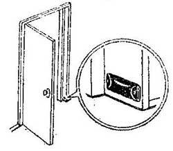Как сделать набойку для удержания двери