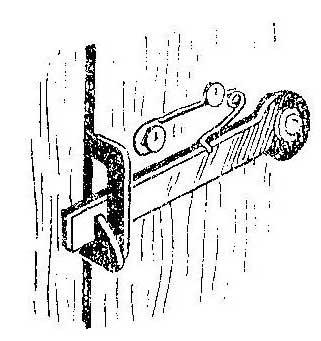 Как сделать пружину для щеколда на двери