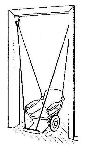 Как сделать качели из детской коляски