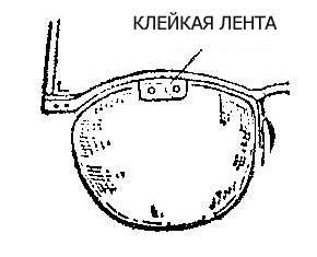 Как отремонтировать отколотое стекло очков