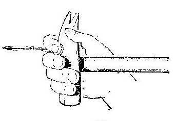 Как забить гвоздь одной рукой