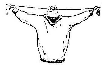 Как сделать вешалку для сушки платья, пуловера