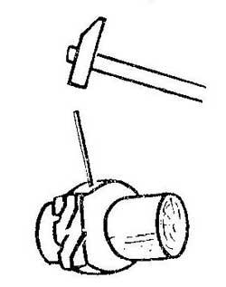Как сделать инструмент для пробивки отверстие в резине