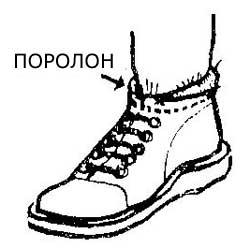Как устранить попадание снега в обувь