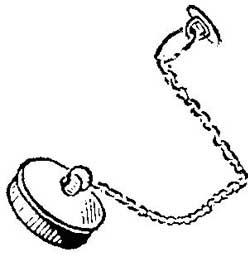 Как устранить соскакивание ванной пробки с цепочки