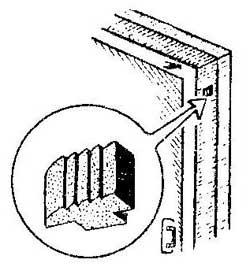 Как сделать стопор для неплотно прилегающей двери