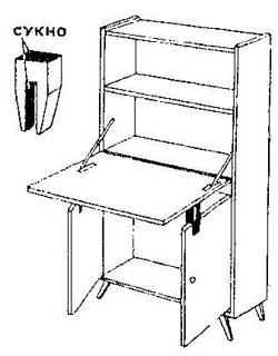 Как сделать рабочий стол трансформер из секретера
