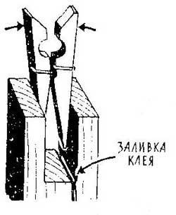 Как сделать распорку из прищепке при заливке клея