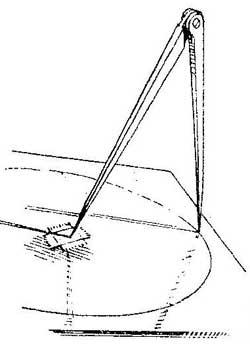 Как разметить окружность на скользкой поверхности