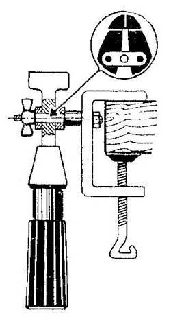 Как сделать рукоятку для сверл, надфилей, метчиков из ювелирных тисочков