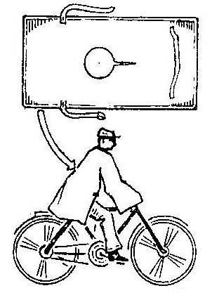 Как сделать накидку от дождя для велосипедистов