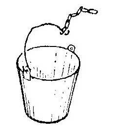 Как крепить колодезное ведро на цепи