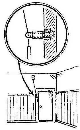 Как закрепить шнурок выключателя лампочки