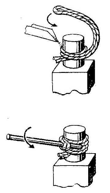 Как повернуть плотно вставленный металлический стержень в гнездо