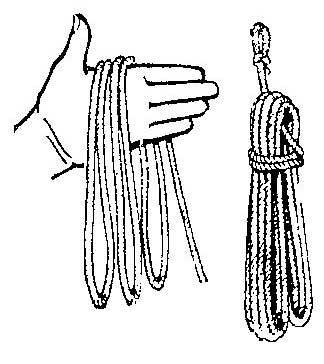 Как связать веревку для хранения