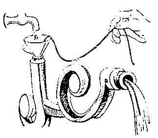 Как протянуть провод через изогнутую трубку