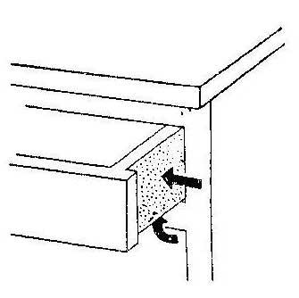 Как облегчить ход ящиков стола