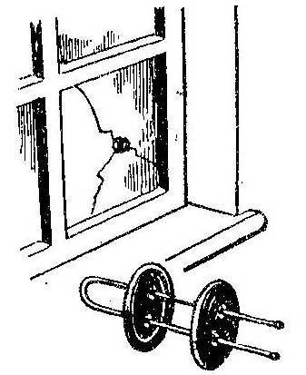 Как временно подлечить лопнувшее стекло