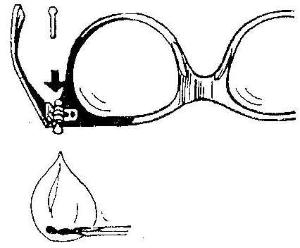Как заменить винтик от оправы очков