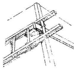 Как зафиксировать лестницу на скате крыши