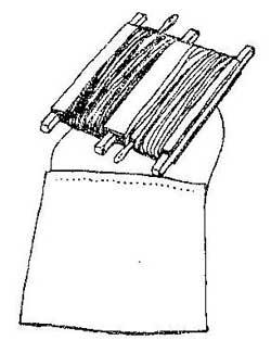 Как сделать катушку для хранения ниток и иголок в походе