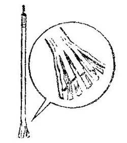 Как сделать кисточку из стержня авторучки