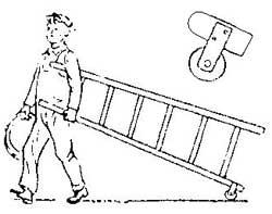 Как транспортировать тяжелую лестницу