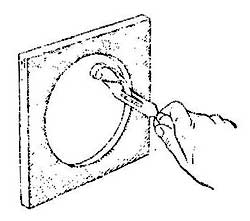Как обработать округленные отверстия в фанере