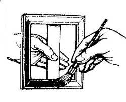 Как покрасить рамку не запачкавши руки