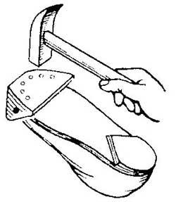 Как разметить подошву ботинка