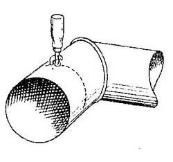 Как порезать жестяную трубу