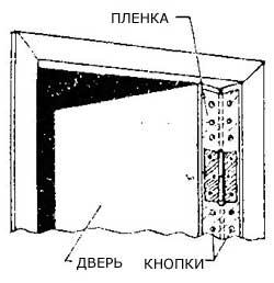 Как уплотнить дверь между дверью и косяком